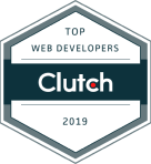 Top web developers on clutch badge